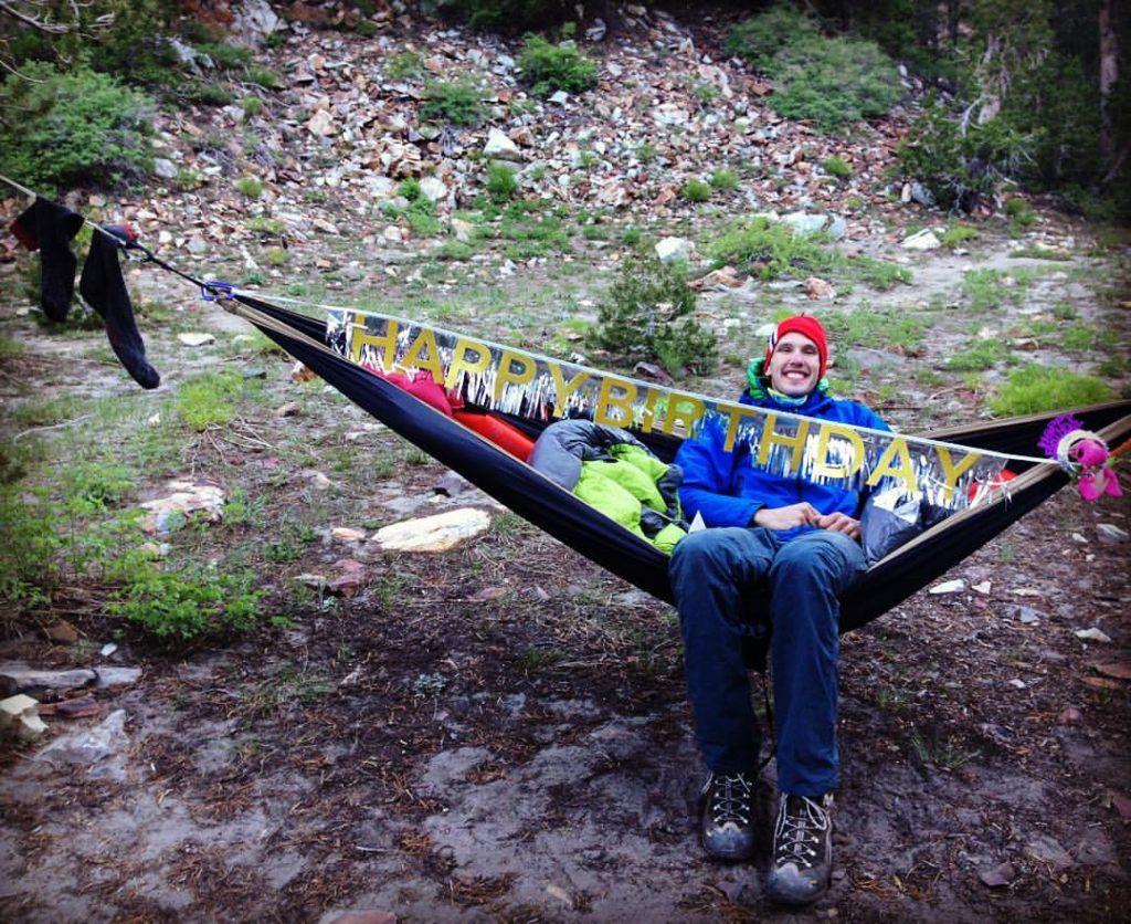 Thoughtful Birthday decorations on my hammock.