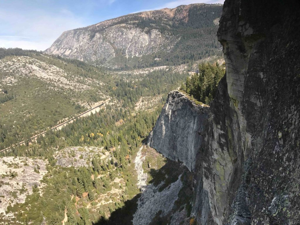 View from P3 belay, looking towards East Wall
